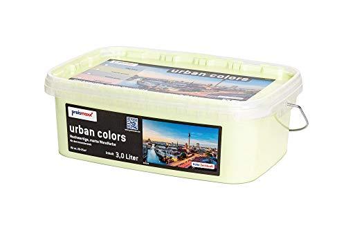 preismaxx urban colors Bunte Wandfarbe grün mojito green 3 Liter matt für Innen