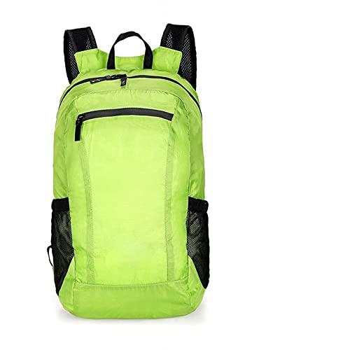 HXSAF Zaino Impermeabile Pieghevole Ultraleggero per Escursioni e Viaggi all'aperto (Colore : Green Color, Spedito da : China)