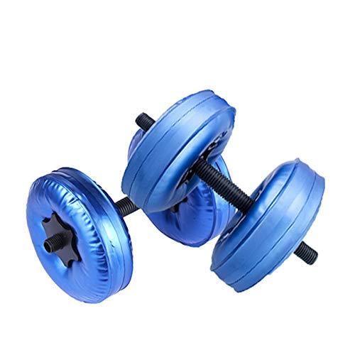 XRTJ Mancuernas Mancuerna Llena De Agua Ajustable con Agua Peso Hombres Y Mujer Mancuerna Brazo De Fuerza Muscular Equipo 5-10kg,Blue