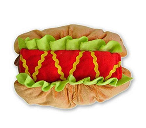 Animale Domestico Cane del Gatto Vestiti Hot Dog Hamburger Decorazione del Partito Halloween Pet Cosplay Color Marrone Chiaro Size Small