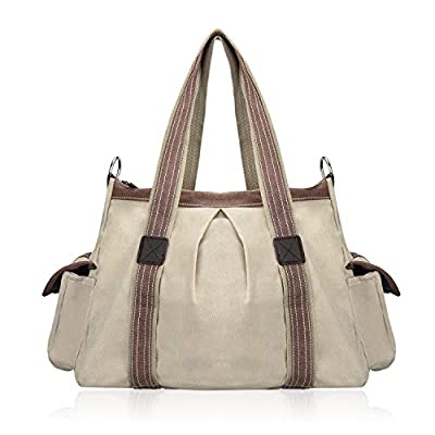 KISS GOLD(TM) Women's Canvas Hobo Top-handle Bag Crossbody Shoulder Bag, European Style, Large Size 16''X6.8''X12''