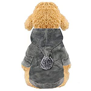 YAODHAOD Dog Hoodie, Winter Soft Flannel Dog Pullover Sweatshirts Coat for Puppy Small Medium Dogs Clothes Apparel
