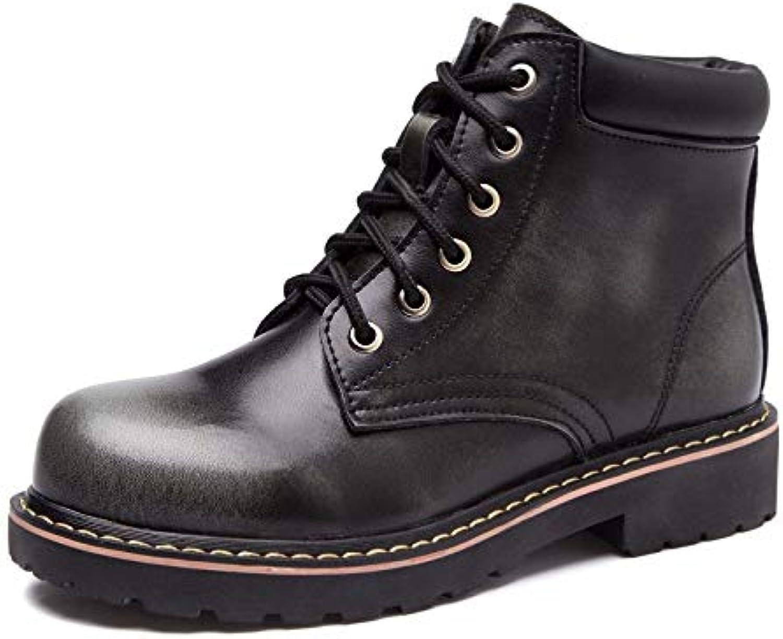 Top Shishang Leder Damen Stiefel Stiefel Stiefel Herbst und Winter Martin Stiefel im Freien, schwarz, 40  Wählen Sie aus den neuesten Marken wie