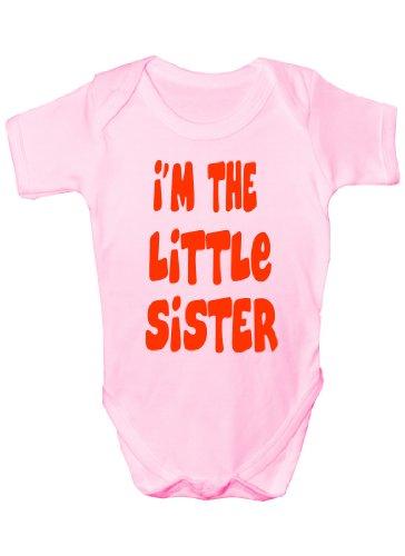 I'm The Little Sister Drôle Babies Body pour bébé Cadeau Garçon/Fille Gilet - Rose - 0-3 mois