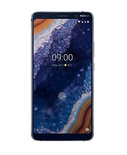 Nokia 9 PureView - Smartphone Débloqué 4G (Ecran : 6 pouces - 128Go ROM - 6Go RAM - Dual SIM ou Nano + MicroSD - Android One Pie 9.0) Bleu