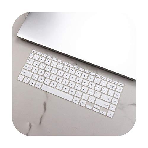 Funda protectora de teclado de silicona para Asus VivoBook S14 M433IA M433I M433L M433 IA Ryzen 5 4500U 2020 de 14 pulgadas, color blanco