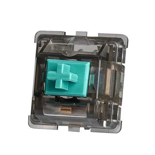 ZugGear T1 Taktile Tastatur Schalter, 67g Feder-Halo Stem Keyswitch, 95% nahe an Original Holy Panda 5-polig, taktile Schalter für DIY mechanische Gaming (10 Stück, rauchiges Gehäuse)