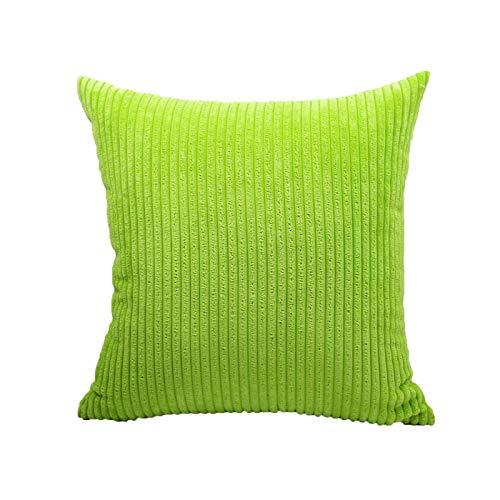 Huachaoxiang Cordón Blanco y Negro Funda de Almohada de artículos para el hogar Fundas de colchón sofá-Cama de Estilo nórdico Fundas de colchón,Verde