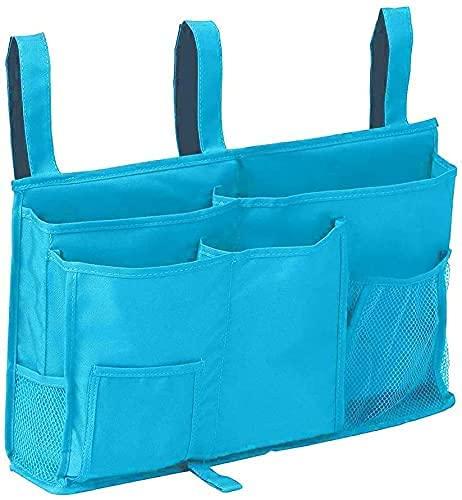 Censsa Betttasche Bettablage zum Einhängen mit Flaschenhalter, Bett Organizer Bett Tasche mit Darhthaken Hängetasche Hochbett Aufbewahrungstasche