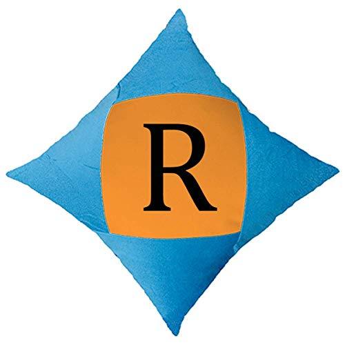 OFFbb-USA - Funda de cojín con símbolo de moneda sudafricana Rand ZAR para cama de coche, color azul