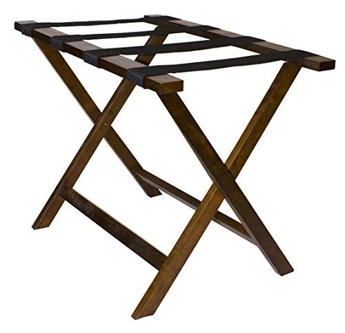 Wholesale Hotel Products Premium Wooden Luggage Racks (Walnut)