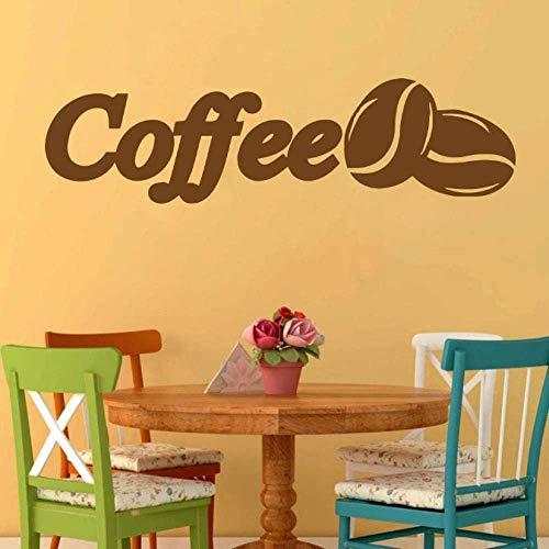 Cafetería Pegatinas De Pared Calcomanías De Pared Cafetería Arte Decoración De La Pared Granos De Café Cocina Autoadhesivo Extraíble 57X15 Cm