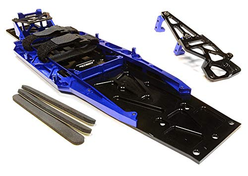 Integy RC Model Hop-ups C26146BLUE Billet Machined Complete LCG Chassis Conversion Kit for Traxxas 1/10 Slash 2WD