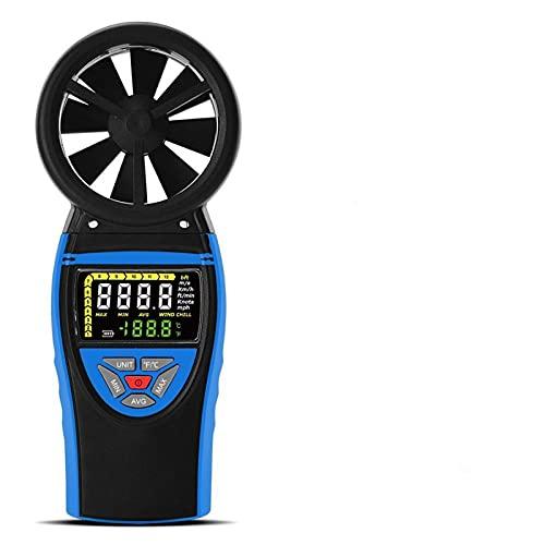 Pantalla de color Métrico de velocidad del viento anemómetro digital de clase alta para medir la velocidad del viento, la temperatura