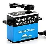 Powerhobby 633MCW High Voltage Waterproof Coreless Steel Gear Servo with Aluminum Case