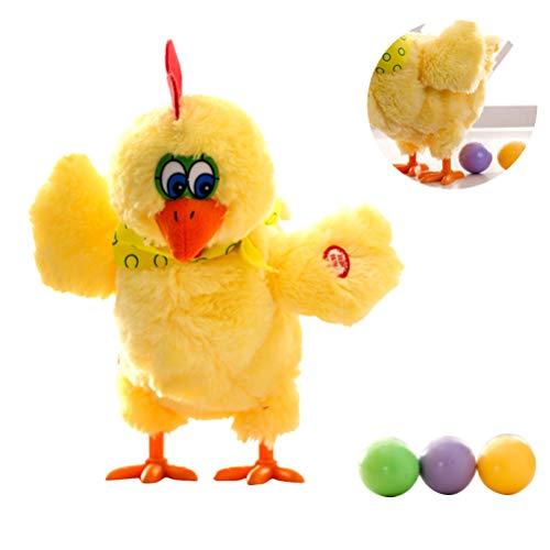Juguete gallina ponedora huevos,juguete eléctrico gallina poner huevos,juguete eléctrico divertido gallinas ponedora huevos,regalo broma dispositivo antiestrés,juego diversión interiores y exteriores