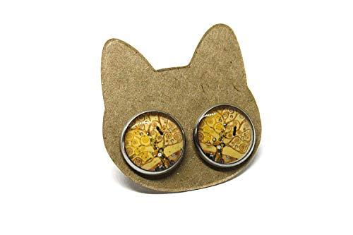 Orecchini Albero della vita - Orecchini a lobo - Klimt - Acciaio - Anallerigici