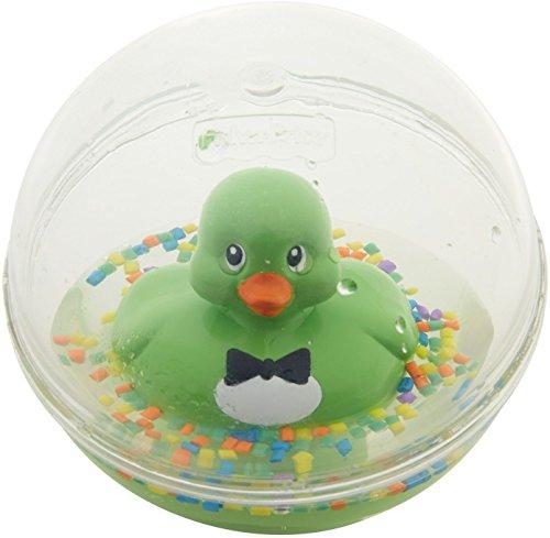Fisher-Price Balle d'Eau Canard Jouet pour le Bain, pour Nouveau-Né Ou Bébé, Remplie de Petites Perles Colorées, 6 Mois et Plus, Verte, DVH73