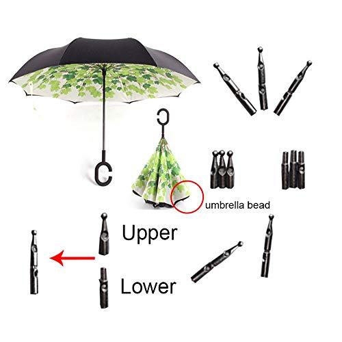 BSZ Regenschirm, wendbar, doppellagig, sonnig und regnerisch, für Damen und Herren