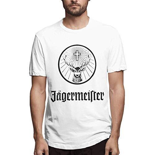Jagermeister Logo Uomo & Gioventù Moda Cotone Girocollo Basic Manica Corta T-Shirt Come da immagine XL