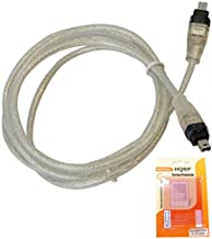 HQRP IEEE 1394 4pin to 4pin Cable/Cord Compatible with Panasonic PV-GS180 PV-GS19 PV-GS2 PV-GS200 Camcorder Plus HQRP LCD Screen Protector