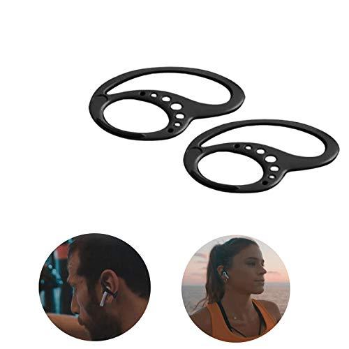 N-D Gpure Gancho de Auriculares Inalambricos Deporte de Silicona Soporte de Accesorios para Headphones Gancho de Oreja Compatible Varios Flexible Estabilizador Anti- Perdida para Fitness, Running