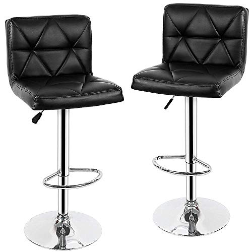 NBVCX Furniture Decoration Bar Stool 2pcs Bar Chair Swivel Barstool Adjustable Lifting High Stool Bar Chair Soft Tabouret De Bar for Home (Color : White)