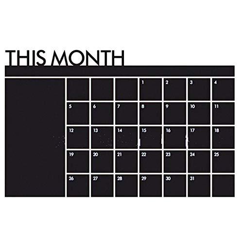 Adhesivo de pared con calendario mensual, reutilizable, para el hogar y la oficina