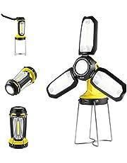Treatlife LEDランタン 折りたたみ式 8つ点灯モード 角度調整可能 5面 モバイルバッテリー 2200mAH キャンプランタン USB充電式 卓上 スタンドライト 照明 多機能 防災対策 登山 釣り アウトドア
