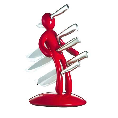 ZTGHS Edelstahl Messerhalter Ohne Messer, Kreative Humanoid Küchenmesser Block Set 5 Slot Messerhalter Stehen Küche Liefert Abnehmbare Messer Lagerregal Organizer
