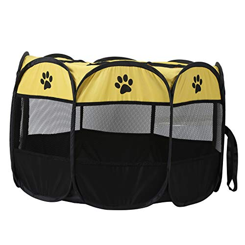 CHENQIAN Carpa de Parque para Mascotas portátil, Malla de Tela Oxford, Jaula al Aire Libre, casa al Aire Libre para Perros, Gatos, 72 cm/28,3 Pulgadas, Altura: Aprox. 45 cm/17,7...