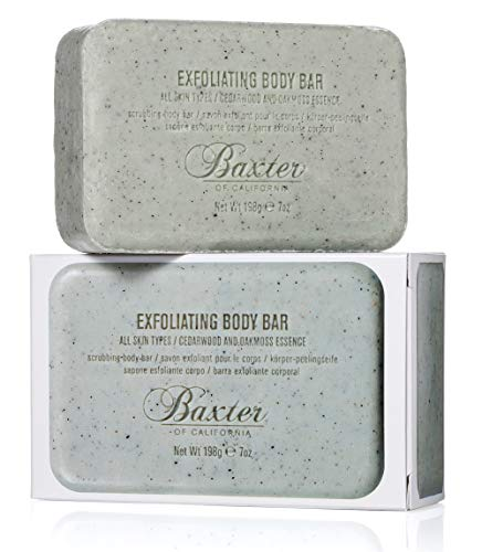 Baxter of California Men's Exoliating Body Bar Soap for Men| Cedarwood and Oak Moss Essence | 7 oz