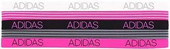 adidas Women s 5pk Creator Hairband Grey/White/Black/Shock Pink ONE SIZE