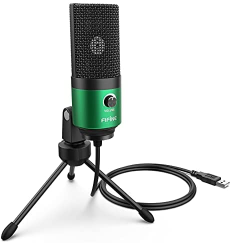 Fifine USB Podcast Condenser Microphone Recording On Laptop, No Need Sound Card Interface and Phantom Power-K669