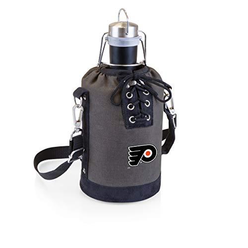 Preisvergleich Produktbild PICNIC TIME NHL Philadelphia Flyers Edelstahl-Behälter mit grau / schwarzem Leinenschnür-Tragetasche,  274 ml