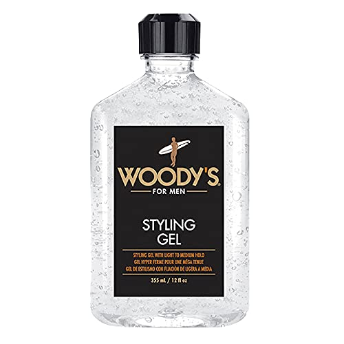Woody's Styling Gel for Men, Light to Medium Hold Styling Tool, Alcohol-free, Non-flaking,...
