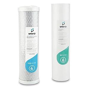 smardy 2x filtros de agua set filtros de repuestoset Nr. 4   6 para Sistema de filtrado de agua smardy BASIC 202