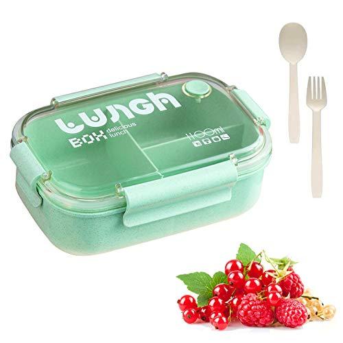 Sunshine smile Lunchbox Kinder,Brotbox Kinder,Lunchbox mit Fächern,Brotdose Kinder,Bento Box,Lunchbox PicknickLunchbox Box für Kinder,Auslaufsichere Brotzeitbox Vesperdose Mikrowelle Heizung