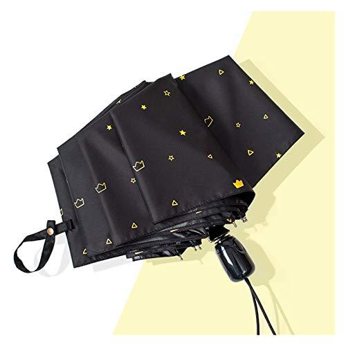 YINGBBH Regenschirm Constellation Regenschirme Regen Frauen Automatische Faltung UV Sonnenregenschirm Männer Galaxie Sternenhimmel Weibliche Regenschirm Weibliche (Color : Crown 05)