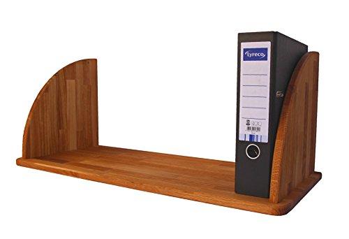 Isfort Holzhandels GmbH Großes, Robustes Wandregal aus Massivholz Eiche geölt, Hängeregal für große Bücher, Bildbände oder Ordner, echtes Holz