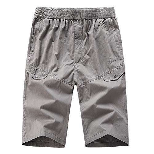 Malloom- Bekleidung Herren Freizeit Mode Reine Farbe im Freien Sport Overalls Kurze Hosen Casual Trend Tooling Shorts Schwarz Grau Khaki Hellblau XL XXL.3XL 4XL