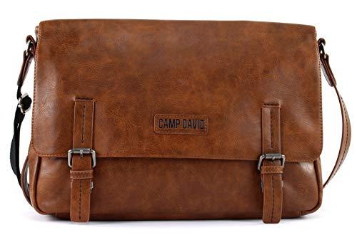 CAMP DAVID Mount Bear Messengerbag Cognac