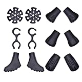 VNVM Trekking Pole Replacement Tips 6 Pairs Hiking Pole Tips Rubber for Hiking Trekking Poles & Adapt to Different Road Conditions