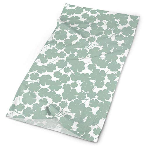 Voxpkrs St. Patrick's Day Four-Leaf Clover Outdoors & Daily Headwear,Bandana,Headband,Neck Gaiter,Balaclava,Helmet Liner for Running Riding Skiing Hiking19.7x9.85 inch/25x50cm