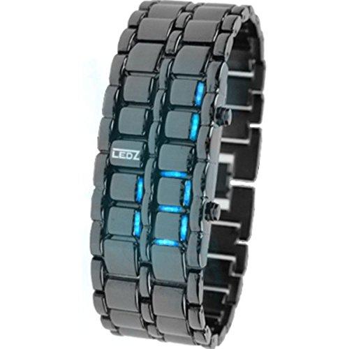 Reloj de pulsera digital safeinu, de metal, con correa LED