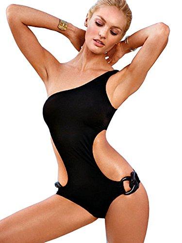 Inception Pro Infinite Costume da Bagno - Intero - Adatto a Adulti Donna & Ragazza - Colore Nero - Monospalla