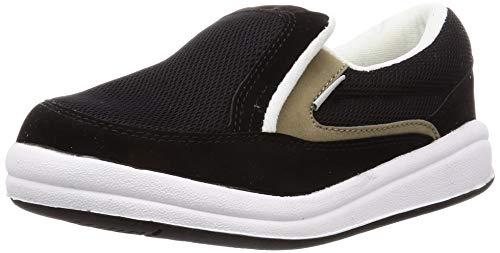 [コーコス信岡] 作業靴 スリッポン ZIPLOA(ジプロア) 超軽量スニーカー EVAソール 先芯なし 女性用サイズ対応 ブラック 23.5 cm 4E