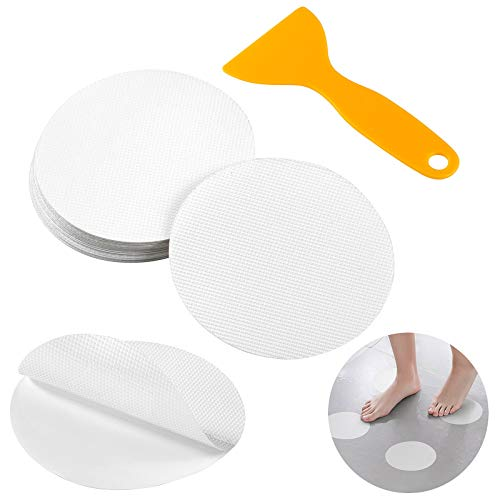 Comius Sharp Premium Antirutsch Aufkleber, 20 Stück Selbstklebend Antirutschmatte Rutsch-Schutz Sticker Set mit Kunststoffschaber Dusch Badewanne für Badewannen & Duschen