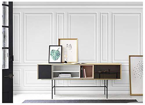 BXZGDJY Selbstklebendes Wandbild (B) 300X (H) 210 Cm Einfache 3D Solide Rahmen Vertäfelung Tapete Nordic Wohnzimmer Schlafzimmer Tv Hintergrund Wand Netz Rot Bekleidungsgeschäft Tapete