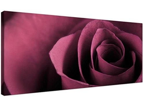 Wallfillers Grote Plum Canvas Kunst van een Roos Bloem - Goedkope Bloemen Doeken - 1111